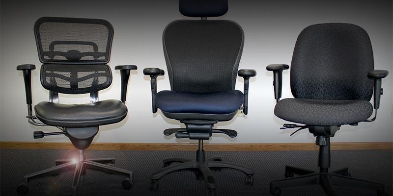 3 ergonomic chairs