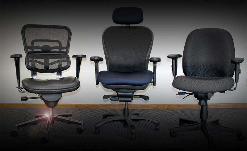 3 ergonomic chairs