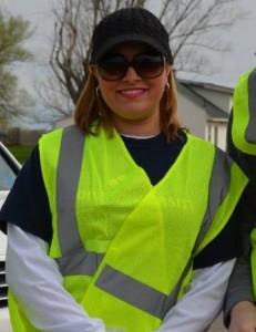 Steph Volunteering