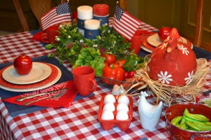 Memorial Day festive table decor