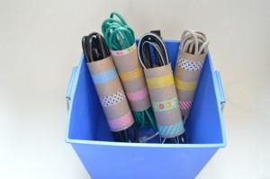 Toilet paper tube organizer