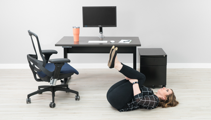 office desk for 2 table double knee to chest stretch 12 stretches improve back pain at your desk