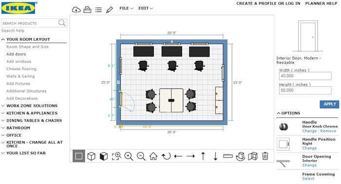 Online office design tool