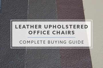 The Complete Buying Guide For Leather Upholstered Office Chairs