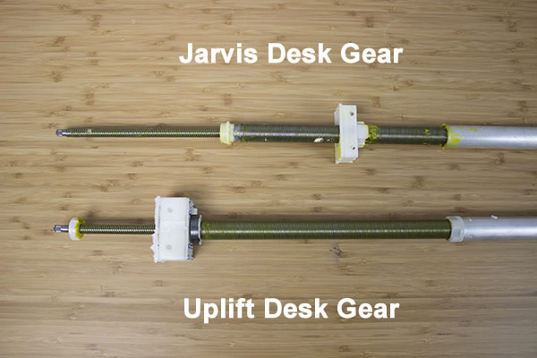 uplift desk and jarvis desk gear comparison