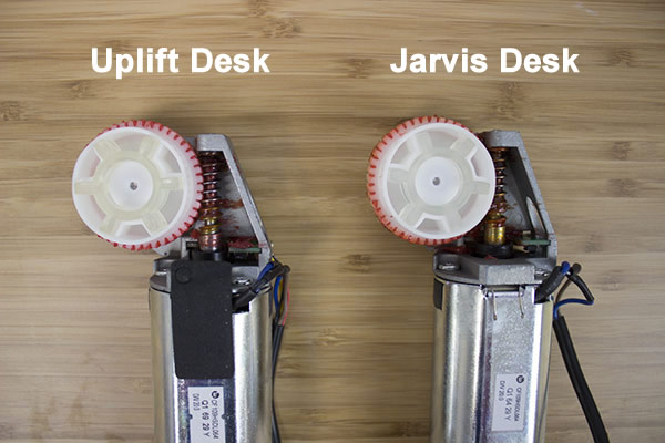 Lubricant shown on both motors and on micro chip
