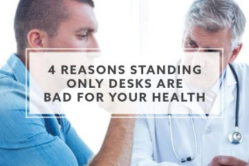 4 Reasons Standing Only Desks are Bad for Your Health