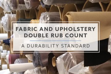 Fabric and Upholstery Double Rub Count: A Durability Standard