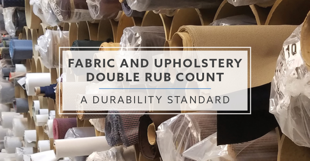 Fabric And Upholstery Double Rub Count A Durability Standard