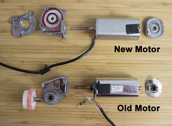 Comparison of both motors opened up