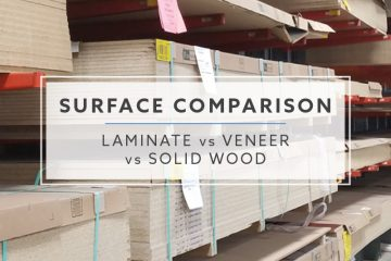 Surface Comparison: Laminate vs. Veneer vs. Solid Wood