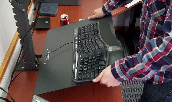 Adjusting keyboard platform 6400 EZ