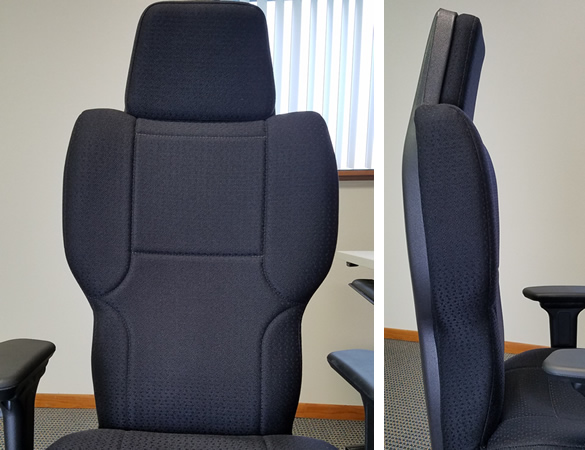 3142 Tall Backrest With Built In Headrest