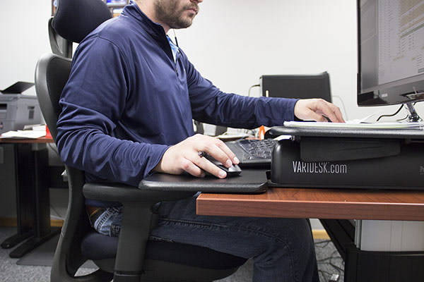 Varidesk at seated height
