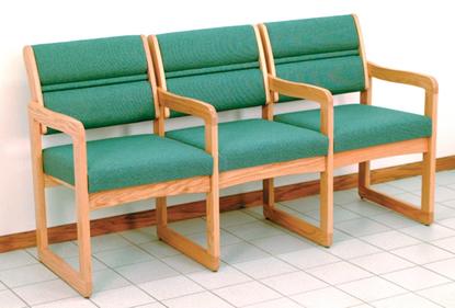 Wooden Mallet Ganged Dakota 3 Seater
