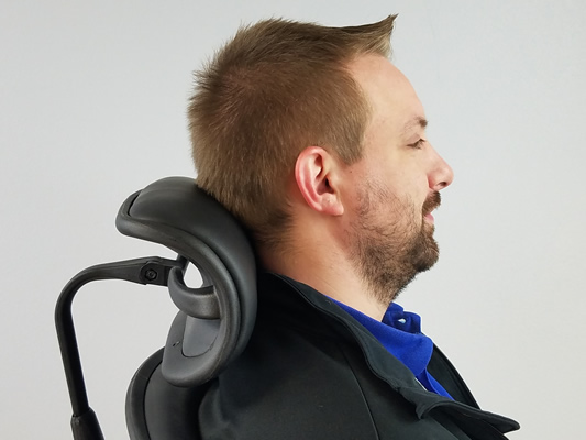 Ergohuman Headrest Fits in Crutch of Neck