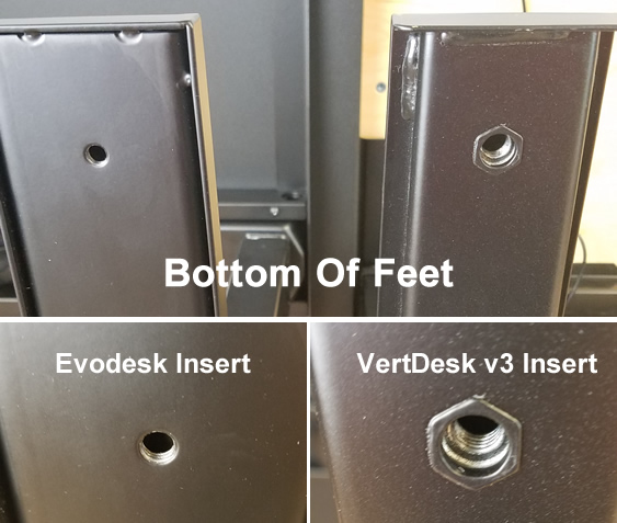 Feet and Threaded Insert Comparison