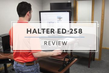 Halter ED-258 Standing Desk Converter (2021 Review/Rating/Pricing)