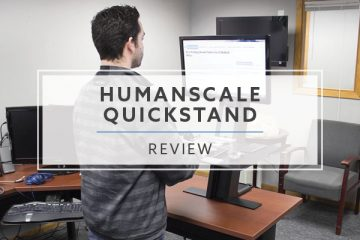 Humanscale QuickStand Standing Desk Converter (2021 Review/Rating/Pricing)