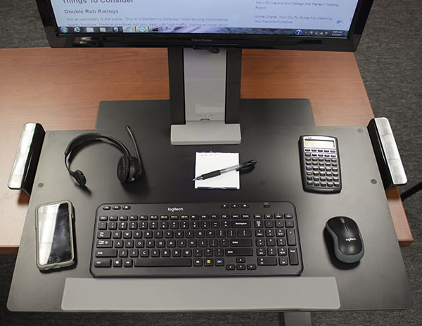 Humanscale Quickstand Working Area