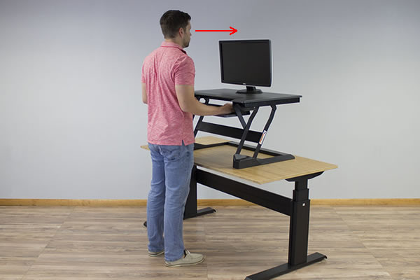 Ergotron WorkFit-T is not dual ergonomic