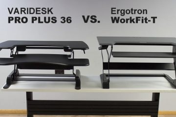 VARIDESK Pro Plus 36 VS. Ergotron WorkFit-T: Which is better?