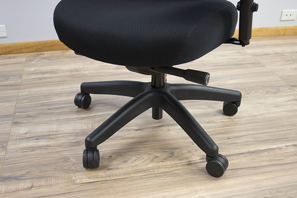 Durable Black base on Rika Chair