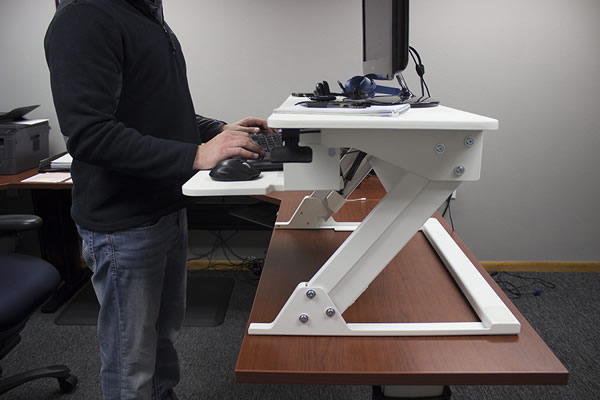 VertDesk Converter z-lift system