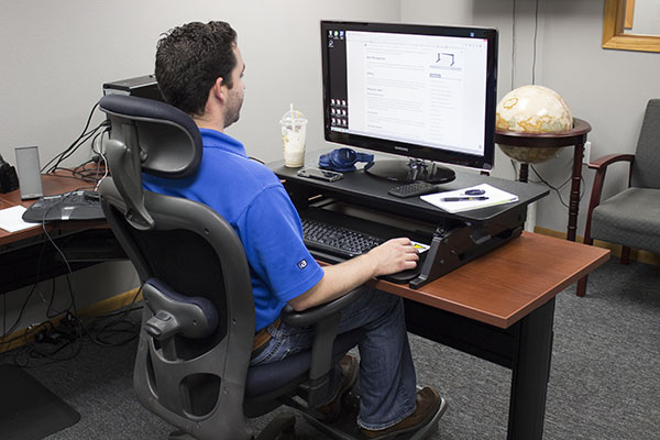 vertdesk converter at sitting height - Standing Desk Converter