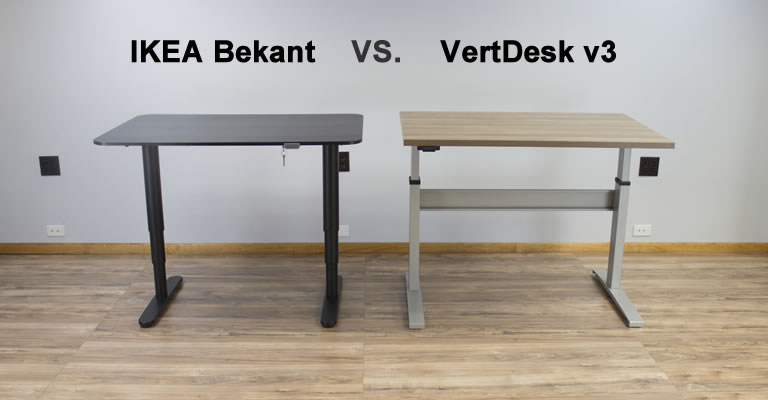 ikea bekant vs vertdesk v3 which is the better standing desk. Black Bedroom Furniture Sets. Home Design Ideas