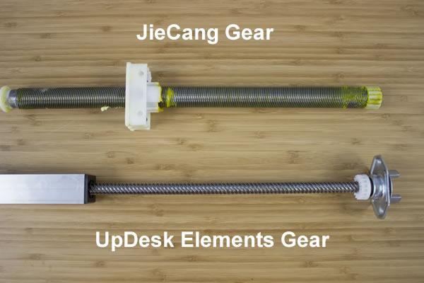UpDesk vs JieCang gear system