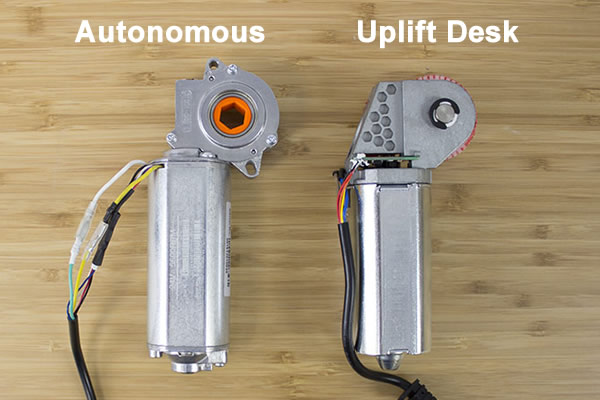 Autonomous and Uplift Desk Back of Motors