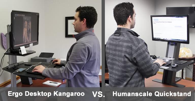 Ergo Desktop Kangaroo vs Humanscale QuickStand: Which is better?