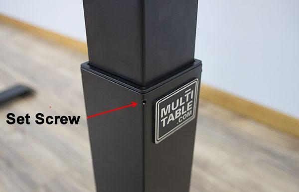 Set Screw In Column For Glide