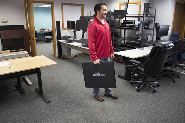 Carrying The VARIDESK Laptop 22