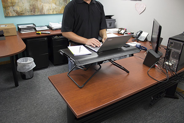 Showing The VariDesk 30 Footprint