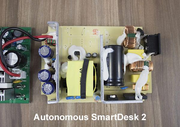 Close Up of TiMotion Box on Autonomous Desk