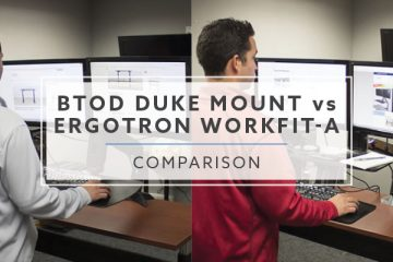 BTOD Duke Mount vs. Ergotron WorkFit-A: Which is best in 2019?