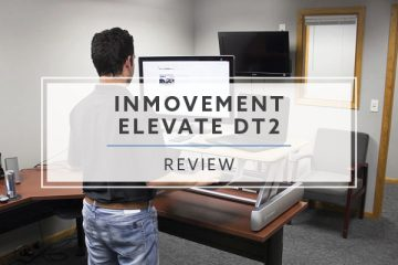 InMovement Elevate Desktop DT2 Standing Desk Converter (2020 Review / Rating / Pricing)