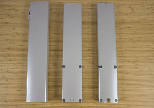 All Three Columns Pulled Apart Showing Glides