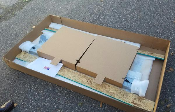 Packaging Inside NextDesk Terra Box