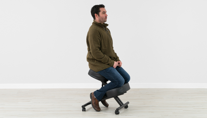 Proper posture while used Sleekform kneeling chair