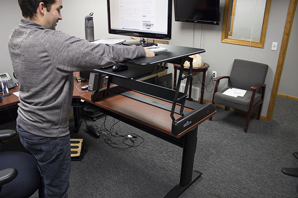 Varidesk EXEC at max height