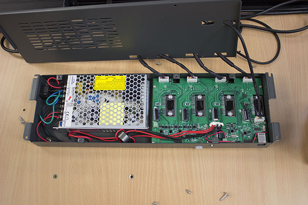 Two board system (large power supply in silver)