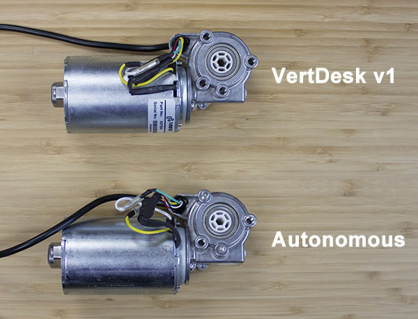 Showing The TiMotion Motors From VertDesk v1 and Autonomous