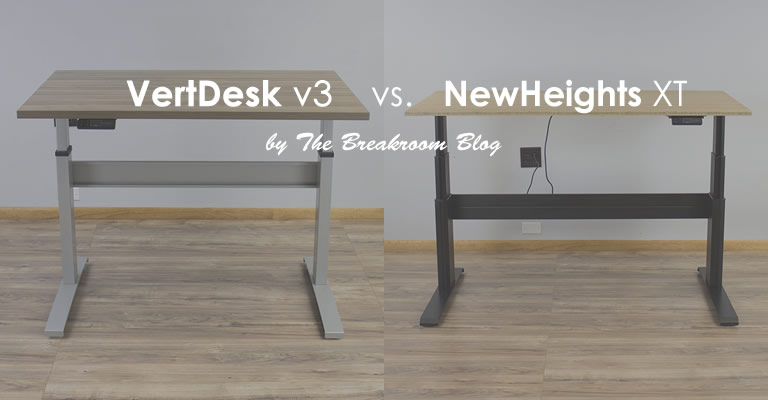 VertDesk v3 vs NewHeights XT Standing Desk Comparison