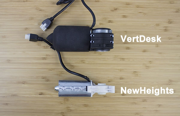 Top comparison of VertDesk and NewHeights motors