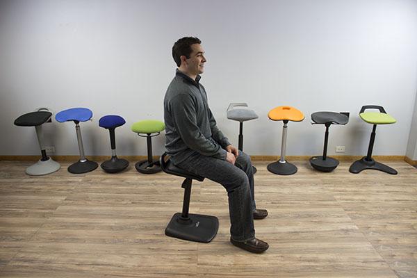Sitting slightly forward on VARIchair