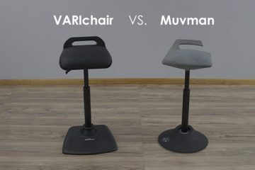 Standing Chair Comparison: VARIDESK VARIchair® vs. aeris GmbH Muvman