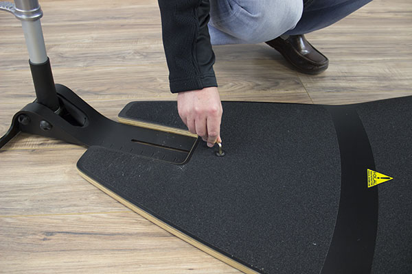 Adjusting the base for shorter or taller users